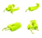 πράσινο απομονωμένο ακατέργαστο λαχανικό συνόλου Στοκ Εικόνες