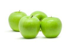 πράσινο απομονωμένο λευκό ανασκόπησης μήλων Στοκ Φωτογραφίες