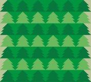 Πράσινο δασικό άνευ ραφής σχέδιο Στοκ Εικόνα