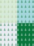 Πράσινο δασικό άνευ ραφής σχέδιο Στοκ Εικόνες