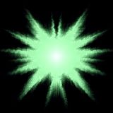 πράσινο αστέρι ανασκόπησης Στοκ Φωτογραφίες