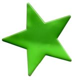 πράσινο αστέρι διανυσματική απεικόνιση