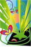 πράσινο αστέρι Στοκ εικόνα με δικαίωμα ελεύθερης χρήσης