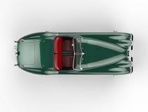 Πράσινο αυτοκίνητο παλαιός-χρονομέτρων στο άσπρο υπόβαθρο - τοπ άποψη απεικόνιση αποθεμάτων