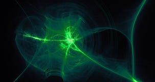 Πράσινο αφηρημένο υπόβαθρο μορίων καμπυλών γραμμών στοκ φωτογραφία με δικαίωμα ελεύθερης χρήσης