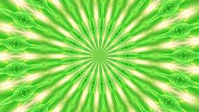Πράσινο αφηρημένο υπόβαθρο περιστροφής φιαγμένο επάνω από πολλά μικρά στοιχεία 2 απόθεμα βίντεο