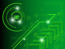 Πράσινο αφηρημένο υπόβαθρο χρημάτων απεικόνιση αποθεμάτων
