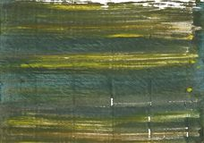 Πράσινο αφηρημένο υπόβαθρο watercolor τουφεκιών Στοκ Φωτογραφίες