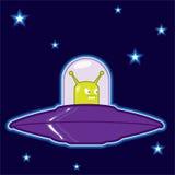 Πράσινο αλλοδαπό UFO ελεύθερη απεικόνιση δικαιώματος