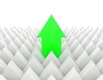 Πράσινο βέλος που ξεχωρίζει Στοκ εικόνα με δικαίωμα ελεύθερης χρήσης