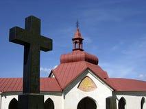 πράσινο βουνό εκκλησιών Στοκ φωτογραφία με δικαίωμα ελεύθερης χρήσης