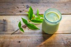 Πράσινο γάλα τσαγιού Matcha Στοκ Φωτογραφίες