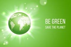 Πράσινο γήινο υπόβαθρο eco απεικόνιση αποθεμάτων