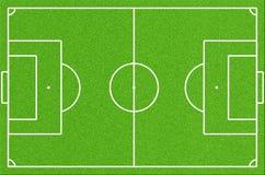 Πράσινο γήπεδο ποδοσφαίρου Στοκ Εικόνες