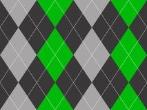 Πράσινο γκρίζο άνευ ραφής σχέδιο σύστασης υφάσματος argyle Στοκ Εικόνα