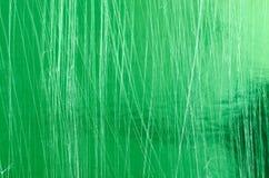 Πράσινο γρατσουνισμένο μεταλλικό υπόβαθρο Στοκ εικόνα με δικαίωμα ελεύθερης χρήσης