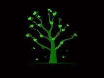 Πράσινο δέντρο καρδιών Στοκ Εικόνες