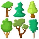 Πράσινο δέντρο με την κοκκώδη σύσταση Διάνυσμα θερινών δέντρων clipart στο άσπρο υπόβαθρο Φυσική τέχνη συνδετήρων με το θερινό το διανυσματική απεικόνιση