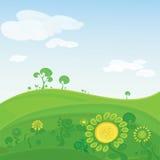 πράσινο διάνυσμα κοιλάδω&n ελεύθερη απεικόνιση δικαιώματος