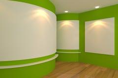 Πράσινο δωμάτιο στοών Στοκ Εικόνες