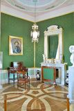 Πράσινο δωμάτιο στο παλάτι της Γκάτσινα Στοκ Εικόνα