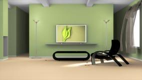 πράσινο δωμάτιο Στοκ Φωτογραφίες
