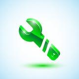 Πράσινο εικονίδιο γαλλικών κλειδιών Στοκ Εικόνες