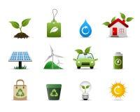 πράσινο εικονίδιο περιβά&la Στοκ εικόνες με δικαίωμα ελεύθερης χρήσης