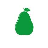 Πράσινο εικονίδιο αχλαδιών διανυσματική απεικόνιση