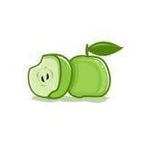 Πράσινο εικονίδιο μήλων Στοκ φωτογραφίες με δικαίωμα ελεύθερης χρήσης