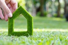 Πράσινο εικονίδιο σπιτιών Στοκ Εικόνες