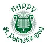 Πράσινο εικονίδιο lyre ευτυχή patricks ST ημέρας Στοκ φωτογραφία με δικαίωμα ελεύθερης χρήσης