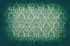 Πράσινο εκλεκτής ποιότητας σχέδιο στον παλαιό τοίχο στον παλαιό τονισμό καμερών τύπων Στοκ Εικόνες