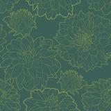 Πράσινο εκλεκτής ποιότητας floral σχέδιο με τον αστέρα ελεύθερη απεικόνιση δικαιώματος