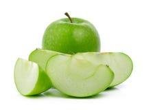 πράσινο λευκό ανασκόπησης μήλων Στοκ εικόνα με δικαίωμα ελεύθερης χρήσης