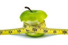 πράσινο λευκό ταινιών μέτρου ανασκόπησης μήλων Στοκ Εικόνες