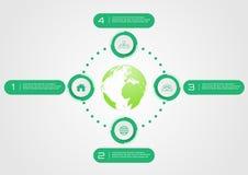 Πράσινο θέμα ύφους κύκλων επιχειρησιακών infographic στοιχείων κάποιο Elem Στοκ φωτογραφία με δικαίωμα ελεύθερης χρήσης