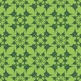 Πράσινο διακοσμητικό άνευ ραφής σχέδιο γραμμών Στοκ εικόνες με δικαίωμα ελεύθερης χρήσης
