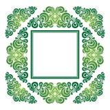 Πράσινο διακοσμητικό στοιχείο στις κάρτες, προσκλήσεις, κάρτες Στοκ Εικόνες