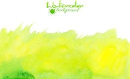 Πράσινο διανυσματικό υπόβαθρο watercolor απεικόνιση αποθεμάτων