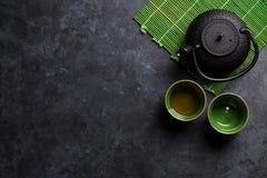 Πράσινο ιαπωνικό τσάι Στοκ εικόνες με δικαίωμα ελεύθερης χρήσης