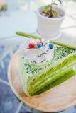 πράσινο ιαπωνικό τσάι matcha κέικ Στοκ εικόνα με δικαίωμα ελεύθερης χρήσης