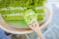 πράσινο ιαπωνικό τσάι matcha κέικ Στοκ φωτογραφία με δικαίωμα ελεύθερης χρήσης