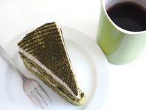 πράσινο ιαπωνικό τσάι matcha κέικ Στοκ Εικόνα