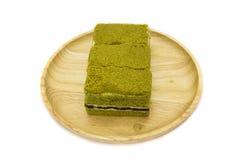 πράσινο ιαπωνικό τσάι matcha κέικ Στοκ φωτογραφίες με δικαίωμα ελεύθερης χρήσης