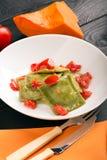 Πράσινο ιταλικό ravioli Στοκ Εικόνα