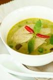 Πράσινο κάρρυ κοτόπουλου, ταϊλανδικά τρόφιμα. Στοκ Εικόνα