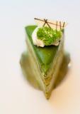Πράσινο κέικ τσαγιού Στοκ φωτογραφίες με δικαίωμα ελεύθερης χρήσης
