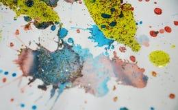 Πράσινο κίτρινο χρυσό κέρινο υπόβαθρο χρωμάτων, δημιουργικό σχέδιο Στοκ Φωτογραφίες