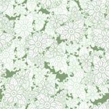 Πράσινο και άσπρο άνευ ραφής υπόβαθρο σχεδίων Floral σύσταση άνοιξη Διάνυσμα λουλουδιών Abctract απεικόνιση αποθεμάτων